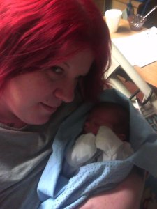 We were very popular in the maternity ward, between my red hair and how tiny he was.